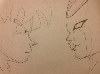 DBZ Anime - line drawing