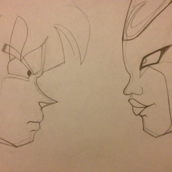 DBZ Anime - line drawing