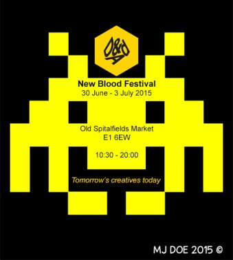 Advertise D&AD's New Blood Exhibition: Idea 1